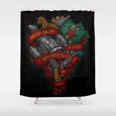 I Aim To Misbehave Shower Curtain