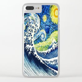 Starry Night Tardis Clear iPhone Case