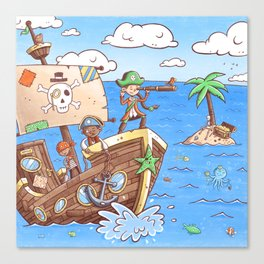 Even Pirates Need to Listen Canvas Print