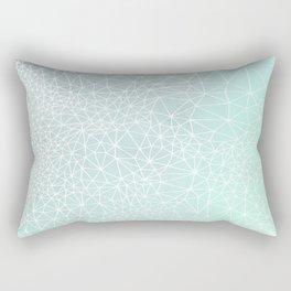 Organic Celestial Geometry on concrete and mint Rectangular Pillow