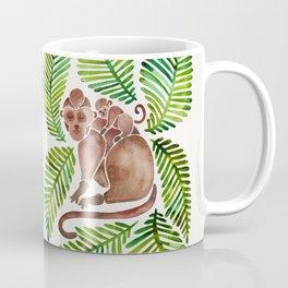Monkey Cuddles – Tropical Green Coffee Mug