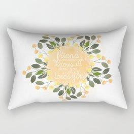 True friend Rectangular Pillow