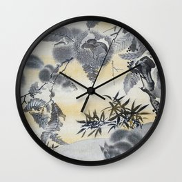 Squirrels Gathering Chestnuts - Digital Remastered Edition Wall Clock