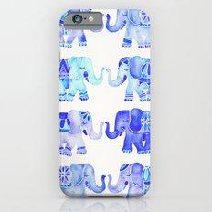 Elephants – Blue Palette iPhone 6s Slim Case