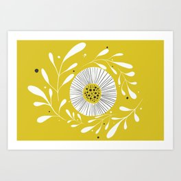 Yellow Day Art Print