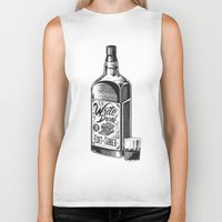 hemingway Biker Tanks featuring Write Drunk. Edit Sober by Ryan Huddle House of H