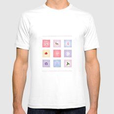 Christmas Time White Mens Fitted Tee MEDIUM