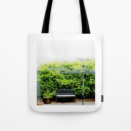 Bench in Overcast Tote Bag