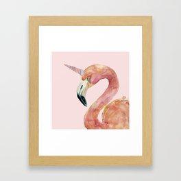 Be Special - Flamingo Unicorn Framed Art Print
