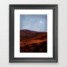 Moon Over Rannoch Framed Art Print