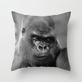 Silverback In Black And White Throw Pillow