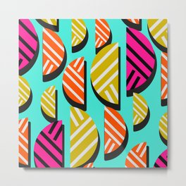 Retro slices Metal Print