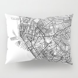 Manila Map White Pillow Sham