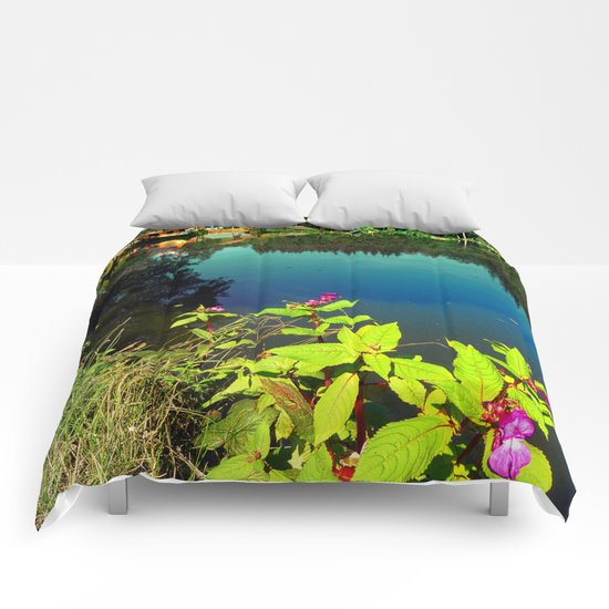End of summer at the pond Comforters