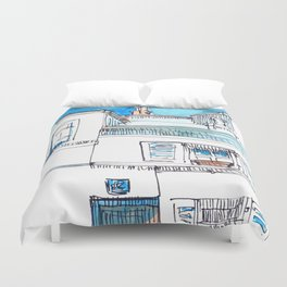 Sketches from Paris 03 Duvet Cover