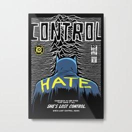 Post-Punk Bat: Control Metal Print