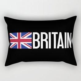 Britain: British Flag & Britain Rectangular Pillow