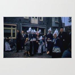 Amsterdam * Vintage Photo * 1950's * Street Scene * Kodachrome * Color * Art Print Rug
