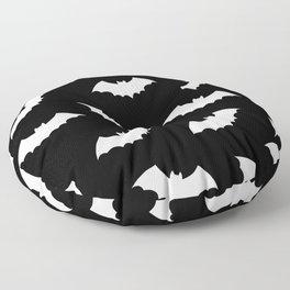 Black & White Bats Pattern Floor Pillow