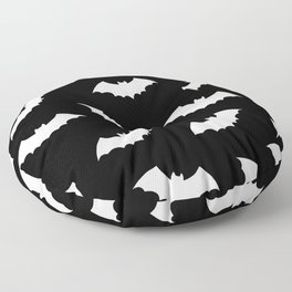 Black & White Bats Pattern Floor Pillow