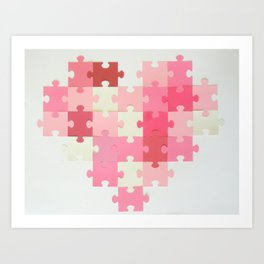 Puzzled Heart Art Print