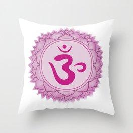 Sahasrara Crown Chakra Throw Pillow
