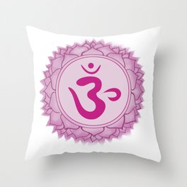 Sahasrara Crown Chakra Throw Pillow