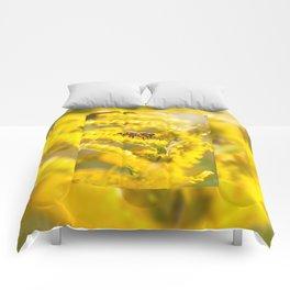 Bee sitting on Solidago virgaurea Comforters