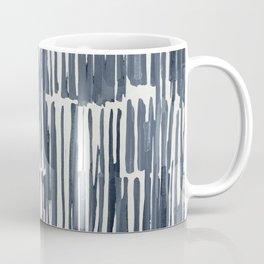 Simply Bamboo Brushstroke Indigo Blue on Lunar Gray Coffee Mug