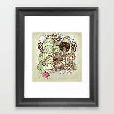 Happy Squirrel Framed Art Print