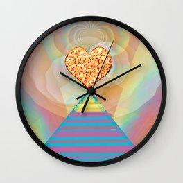 Pizza Party with the Illuminati Wall Clock