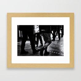 Hustle And Bustle Framed Art Print