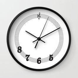 5 6 7 8 Treble Clef Wall Clock