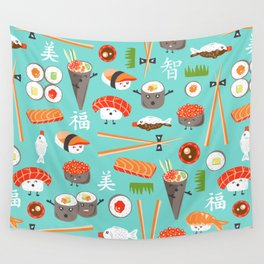 Happy Sushi Wall Tapestry