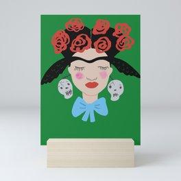 Unibrow Wings Girl Mini Art Print