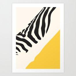 Zebra Abstract Art Print