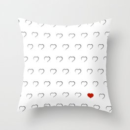 Hearts - Classic Red Throw Pillow