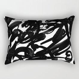 Black Battle Rectangular Pillow