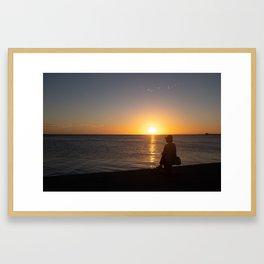 Beach in an island of French Polynesia Framed Art Print