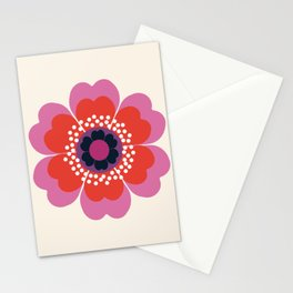 Lightweight - 70s retro throwback floral flower art print minimalist trendy 1970s style Stationery Cards