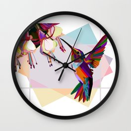 Humingbird colorful Wall Clock
