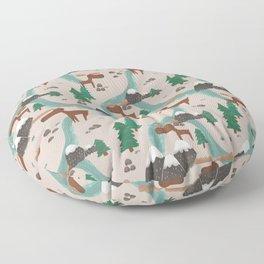 Moose in the Wildnerness Floor Pillow