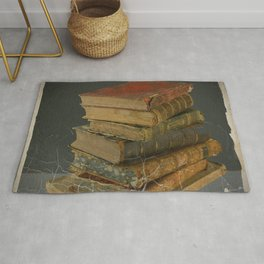 GRUBY SHABBY CHIC ANTIQUE LIBRARY BOOKS Rug