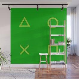 Green Gamer Pattern Wall Mural