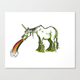 A Unicorn  For Drunks Canvas Print