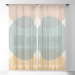 Circle Gradient - Melons Sheer Curtain