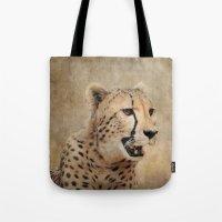 cheetah Tote Bags featuring Cheetah by Jai Johnson