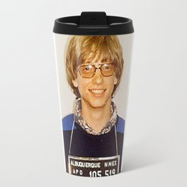 Bill Gates Mug Shot Travel Mug