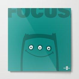 Focus. Metal Print