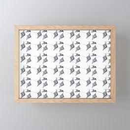 Manta ray devil fish Framed Mini Art Print